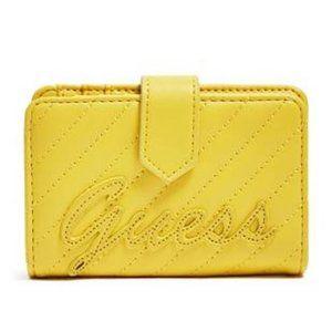 Guess Feliz Logo Mini Yellow Travel Wallet